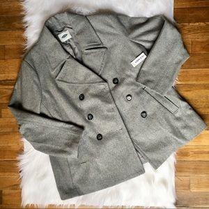NWT Old Navy grey pea coat, size XL